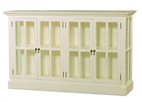 wood media stand glass door white bookcase