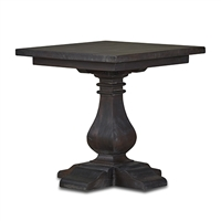 Bramble trestle cocoa square side table mahogany