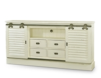 wood media cabinet sliding door white shutter