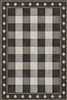 vinyl floor mat rectangle rug gingham black white check