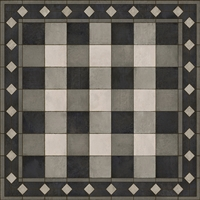 vinyl floor mat square rug gingham black white check