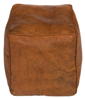 brown square cube leather