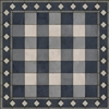 vinyl floor mat square rug gingham navy blue white check