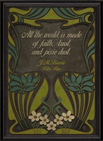 wall art print black green art nouveau Peter Pan J.M. Barrie All the world