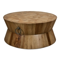 round coffee table driftwood brown