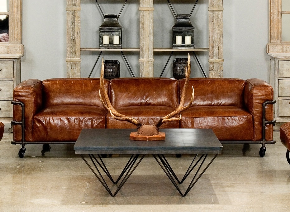Antwerp Couch Brown Leather Sofa