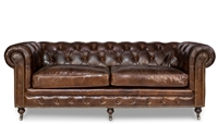 Castered Chesterfield Sofa