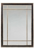 Sarreid, Ltd. mirror rectangle wood dark ebony distressed gold gilt sections