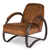 Ferris Armchair Metal Frame Lounge Leather