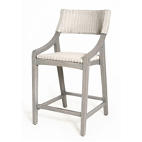 white rattan woven counter stool wood frame contemporary