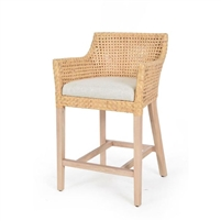 rattan cane back counter stool cushion