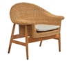 occasional arm chair mid-century modern woven rattan