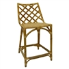 counter chair natural woven curved back
