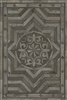 Spicher & Co vinyl floorcloth floor mat wood inlays shades gray medallion star