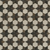 Spicher & Co vinyl floorcloth floor mat wood inlays black brown white stars square
