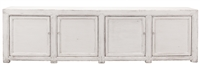 cabinet sideboard buffet distressed white extra wide