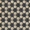 Spicher & Co vinyl floorcloth floor mat wood inlays black white stars square