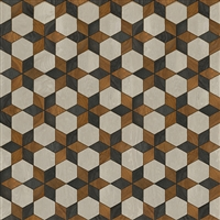 vinyl square floor mat star pattern black brown cream