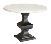 pedestal dining table metal base marble top