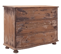three drawer chest distressed natural gray pine rustic