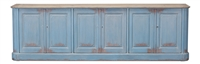 cabinet pine old distressed French light blue natural top removable shelves
