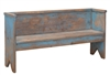 natural bench seat distressed blue pine