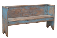 Beach House Bench - Rustic Blue Pine Farmhouse Bench