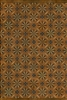 Spicher & Co vinyl floorcloth floor mat wood inlays mosaic tan black