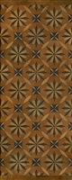Spicher & Co vinyl floorcloth floor mat wood inlays mosaic tan black runner