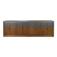 blue reclaimed pine sideboard