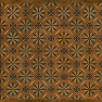Spicher & Co vinyl floorcloth floor mat wood inlays mosaic parquet tan black square