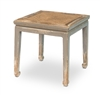 Square Stool with Rattan