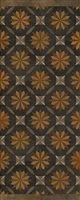 Spicher & Co vinyl floorcloth floor mat wood inlays mosaic parquet tan black runner