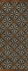 Spicher & Co vinyl floorcloth floor mat wood inlays mosaic parquet tan black gray vintage runner