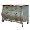 cabinet reclaimed pine 4 drawer scalloped rustic blue distressed bowed