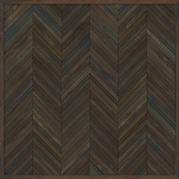 Spicher & Co. vinyl floorcloth floor mat wood inlays herringbone gray brown vintage square