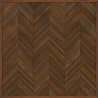 Spicher & Co. vinyl floorcloth floor mat wood inlays herringbone brown vintage runner