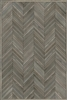 Spicher & Co. vinyl floorcloth floor mat wood inlays herringbone gray vintage