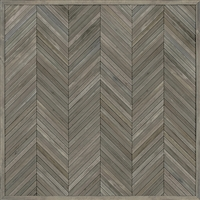 Spicher & Co. vinyl floorcloth floor mat wood inlays herringbone gray vintage square