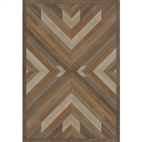 brown faux wood lay flat vinyl rug