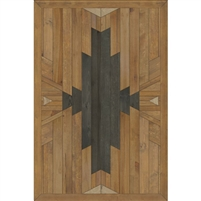 neutral black faux wood lay flat mat
