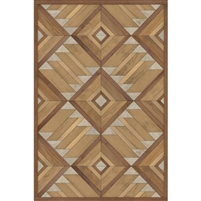faux wood warm brown vinyl floor mat