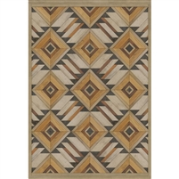 faux wood brown lay flat vinyl mat tri color