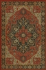 vinyl floor mat rug Persian-style red black tan