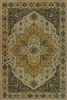 vinyl floor mat rug Persian-style gold black tan