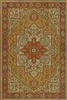 vinyl floor mat rug Persian-style gold orange tan