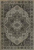 Unique Vinyl Floor Mats - USA Made Shades Of Gray Persian Rug Design | BSEID
