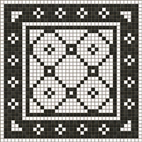 vinyl floor mat black white tile
