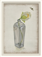 Flower in Bottle 1 Art Print