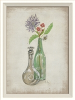 Flower in Bottle 2 Art Print - USA-Made Springtime Décor | BSEID